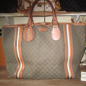 GG Canvas Large Travel Tote Bag